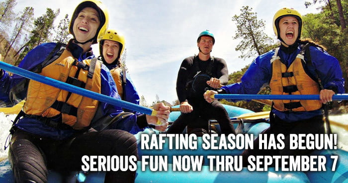 Great 2015 rafting on Tuolumne River thru September 17