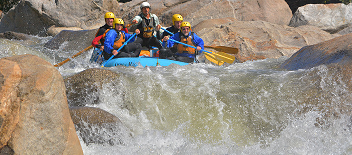 Exciting rapids on the Cherry Creek/Main Tuolumne Combination trip.