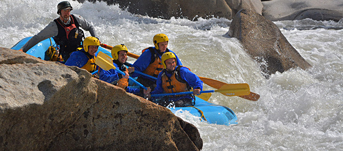 Class V whitewater rafting on Cherry Creek