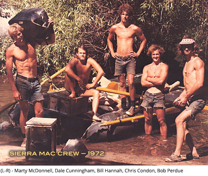 Sierra Mac guide crew in 1972