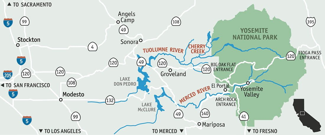 Maps and Directions - Sierra Mac River Trips
