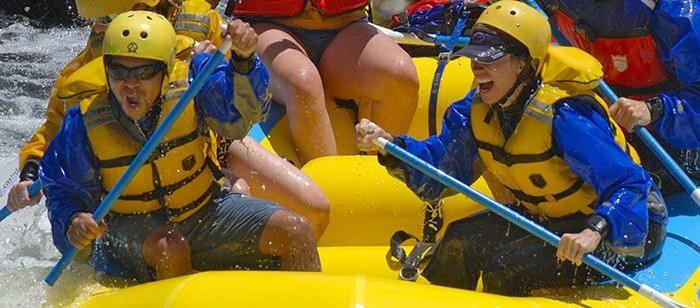 River rafting adventure on the Merced