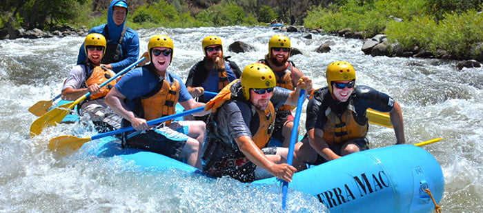 Rafting trip bachelor and bachelorette party, Tuolumne river