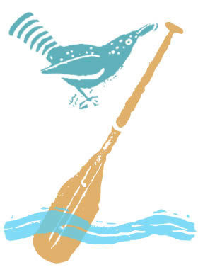 Bird and paddle