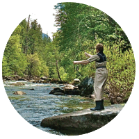 Fly fishing trip with Yosemite Family Adventures.