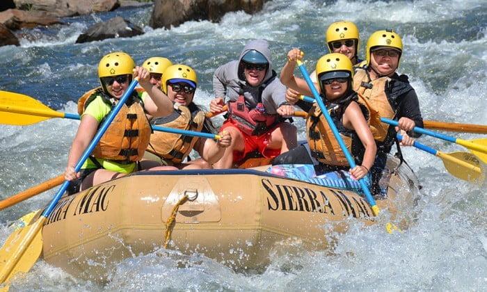 Family rafting trip on the Tuolumne