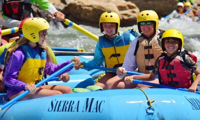 Kids love rafting the Tuolumne River