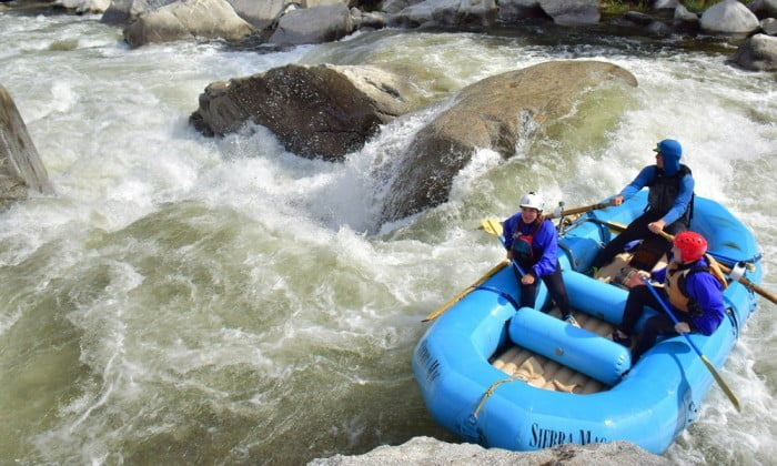 Approaching the big drop at Toadstool rapid on Cherry Creek