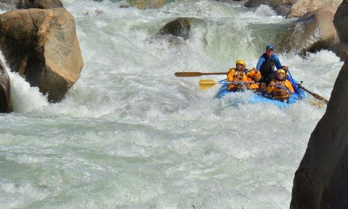 Lewis' Leap rapid on Cherry Creek/Upper Tuolumne