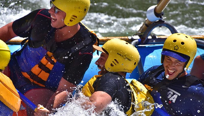 rafting close up