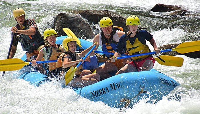 Family rafting trip on Main Tuolumne River