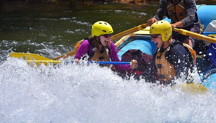 Couple enjoys whitewater rafting