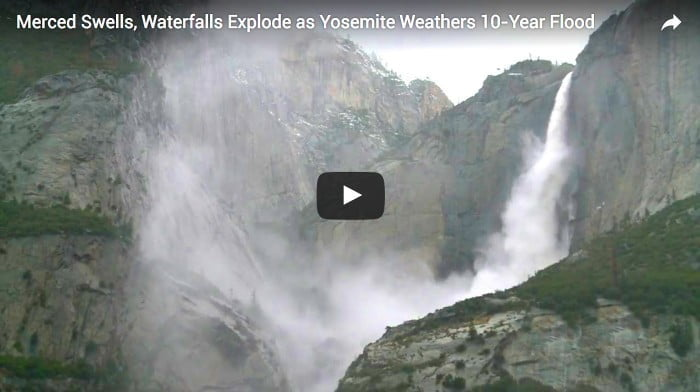 Yosemite rivers reach peak flow