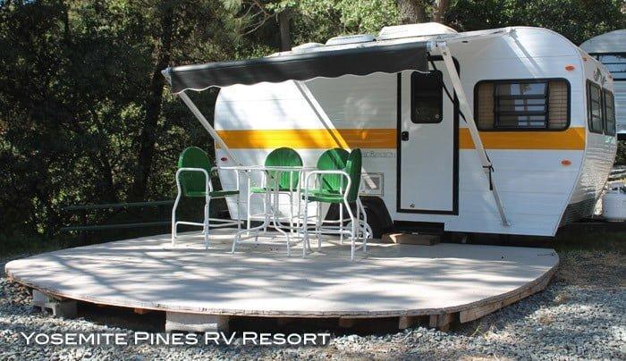 Yosemite Pines Retro Trailer