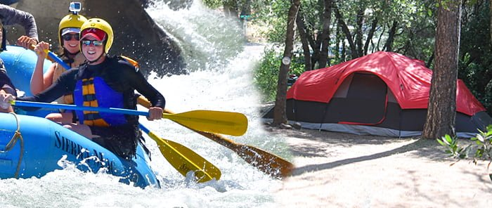 Camping and Rafting near Tuolumne River