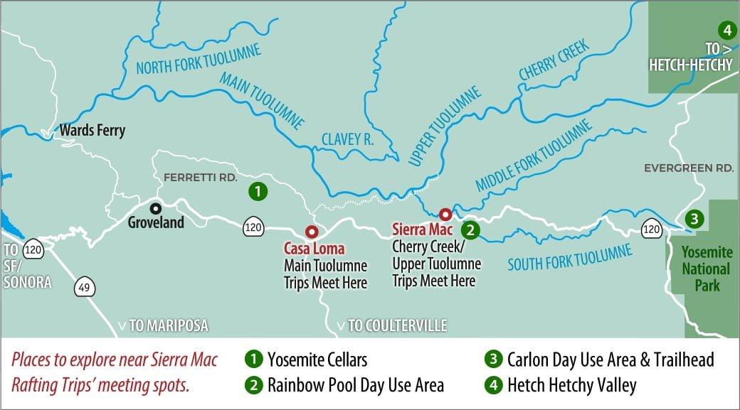 Exploring the Tuolumne River Region Northwest of Yosemite Sierra