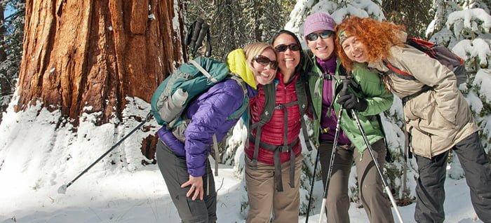 Snowshoe trip in Yosemite Redwoods